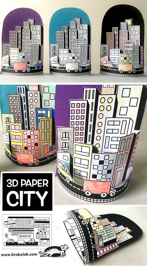 3D PAPER CITY (krokotak) - # 3D #cities #City #krokotak #Paper