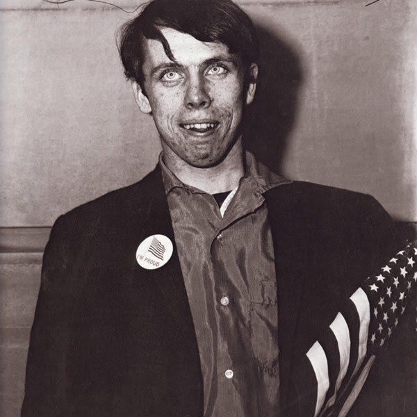 "Diane Arbus .. shown: ""Patriot, with proud button"" .."