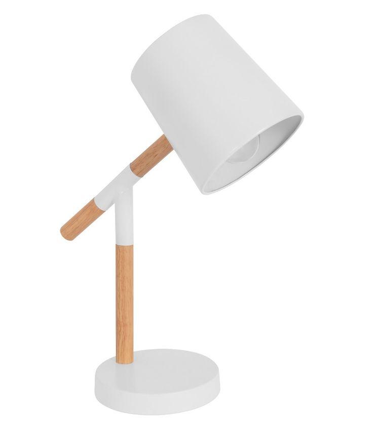 Neva 1 Light Table Lamp in White/Natural