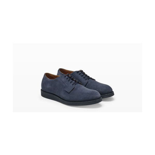 Red Wing Red Wing Postman Suede in Color Grey ($199) ❤ liked on Polyvore featuring men's fashion, men's shoes, grey, mens grey shoes, mens gray oxford shoes, mens gray suede shoes, mens oxford shoes and mens grey oxford shoes