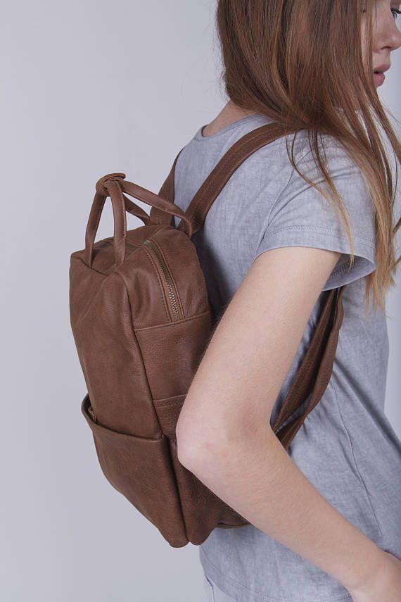 0b7bfea46df Unisex tassen, cadeau voor papa, bruin lederen rugzak, lederen rugzak,  laptoptas, rugzak, Messenger Bag, Unisex handtas - Kipi reizen | tassen -  Brown ...