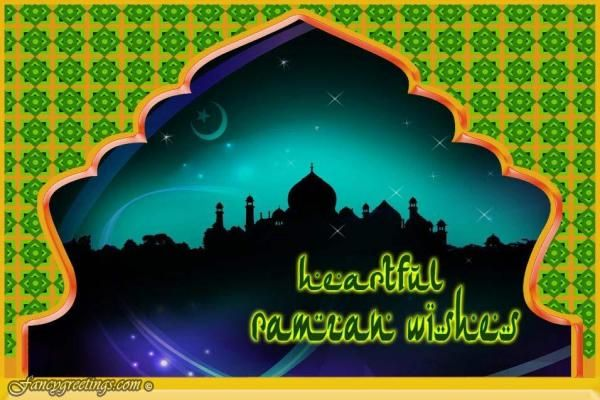 Here is a collection of beautiful Happy Ramzan Wishes and Ramadan greetings. Lets cheers with loads of happiness and celebrate by sharing these greetings to your beloved friends and families.