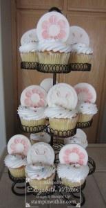 Stampin Up sweet pressed cookie stamp cupcakes