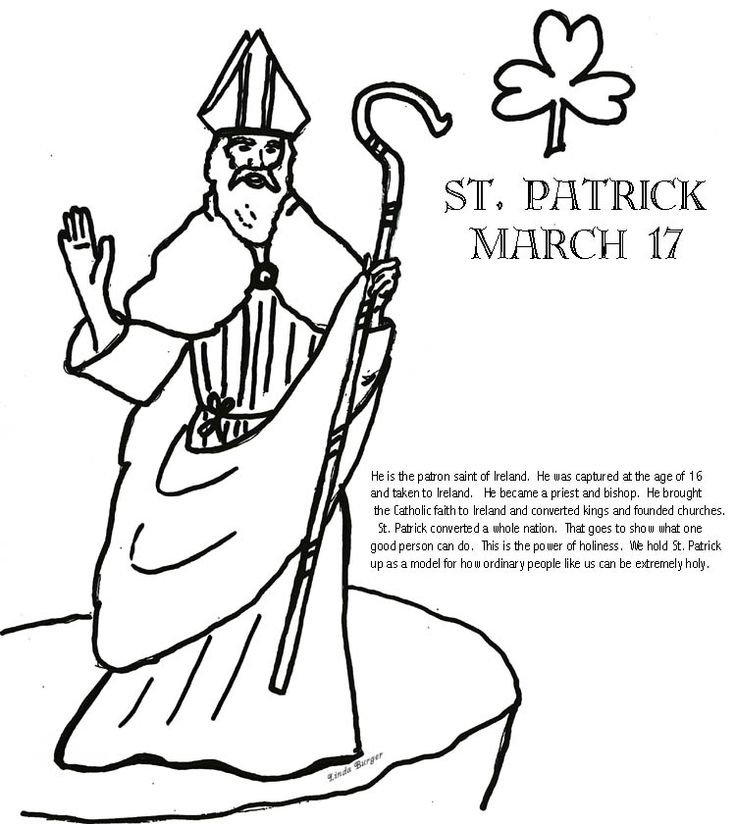 st patrick coloring pages religious Saint Patricks Coloring Pages: St Patrick Coloring Page Church Of  st patrick coloring pages religious