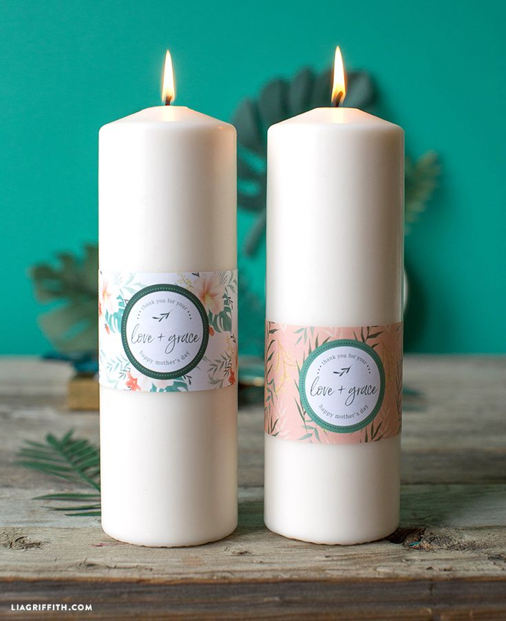 Tropical Candle Wraps for Mother's Day