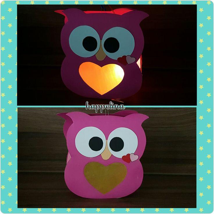 Lanterna di cartoncino colorato Gufo