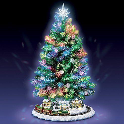 Thomas-Kinkade-Holiday-Sparkle-Color-Changing-Fiber-Optic-Tabletop-Christmas -Tree-by-The-Bradford-Exchange-0-3 - Thomas Kinkade Holiday Sparkle Color-Changing Fiber-Optic Tabletop