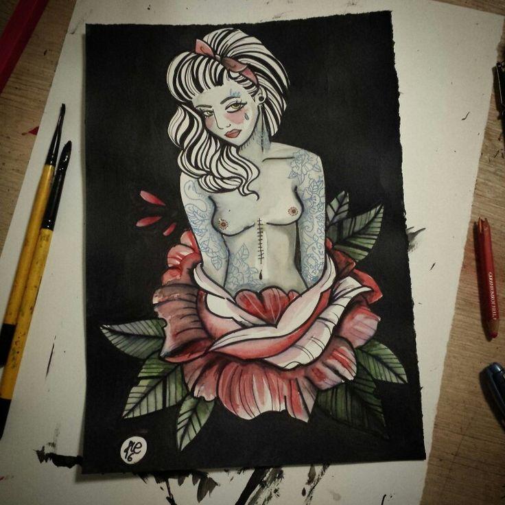 Flower girl print @ ETSY SHOP https://www.etsy.com/au/shop/LaSueParlour