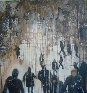 Adrienne Silva - Painter: The Pattern is Evident  *oil on canvas*  95 x 85 c...