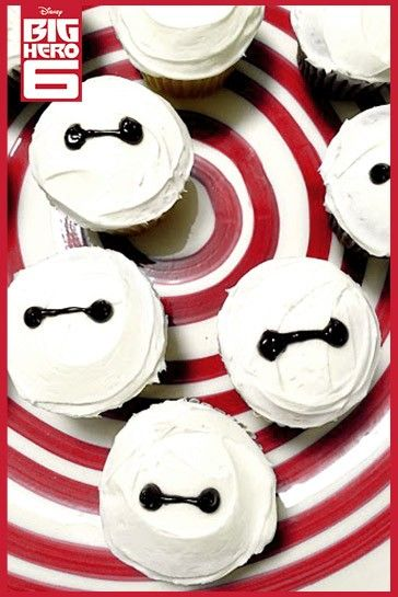Baymax DIY Cupcakes. Inspired by Big Hero 6, now available onBlu-ray & Disney Movies Anywhere today.