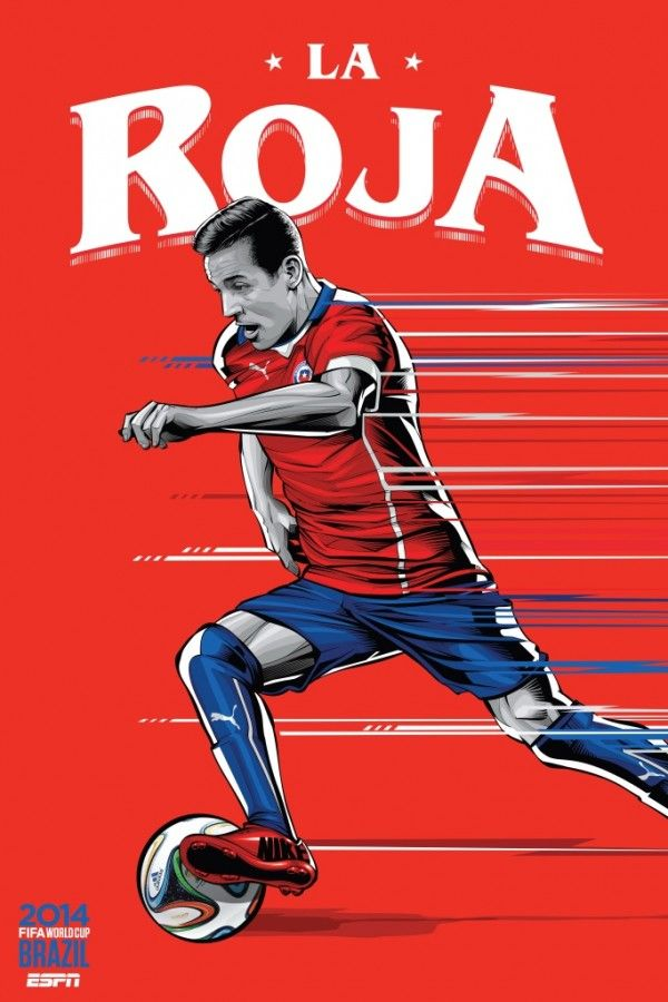 Chile poster from ESPN World Cup Souvenirs @ SoccerGaga.com