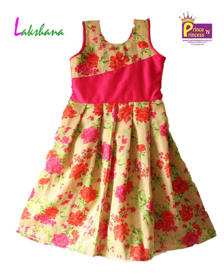 Beautiful Kids Floral Pink Gown Frock www.princenprincess.in