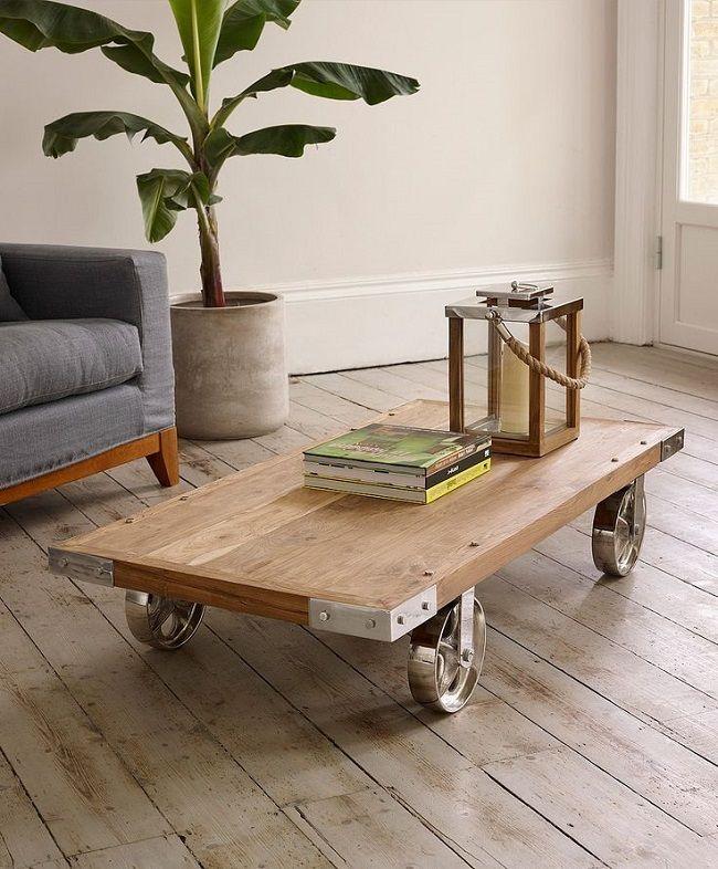 Belham Living Franklin Reclaimed Wood Industrial Coffee Table: Industrial Coffee Tables, Lombok #hergebruik #upcycle