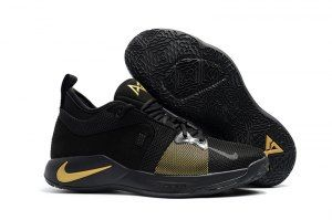 Nike Paul George PG2 Playstation Black Gold Men s Basketball Shoes ... f8dbc0341