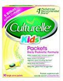 #1: Culturelle Kids Packets Daily Probiotic Formula One Per Day Dietary Supplement Contains 100% Naturally Sourced Lactobacillus GG The Most Clinically Studied Probiotic 30 Count