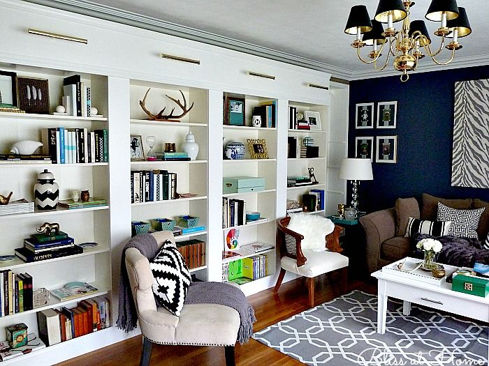 Ikea Billy Library Wall Home Decorating Trends Homedit