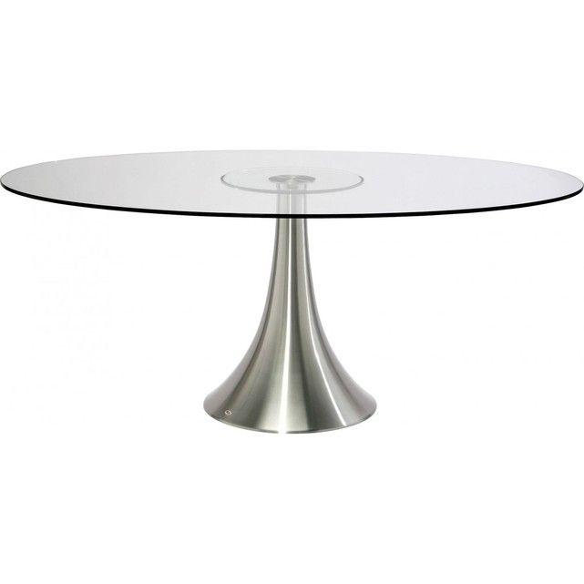 Table Ovale Verre Grande Possibilita 180 cm Kare Design