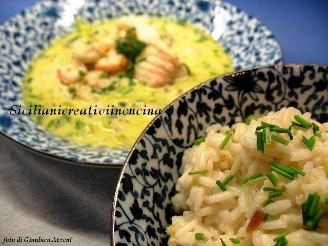 Zuppa di pesce al curry e latte di cocco, con riso Jasmine
