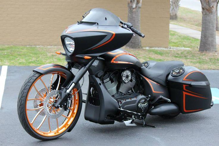 Custom Victory Cross Country __ DAYTONA 2014 WWW.HOTVIC.COM — at Coastal Victory Indian Motorcycles.