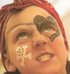 Pirate Face Paintings on Pinterest