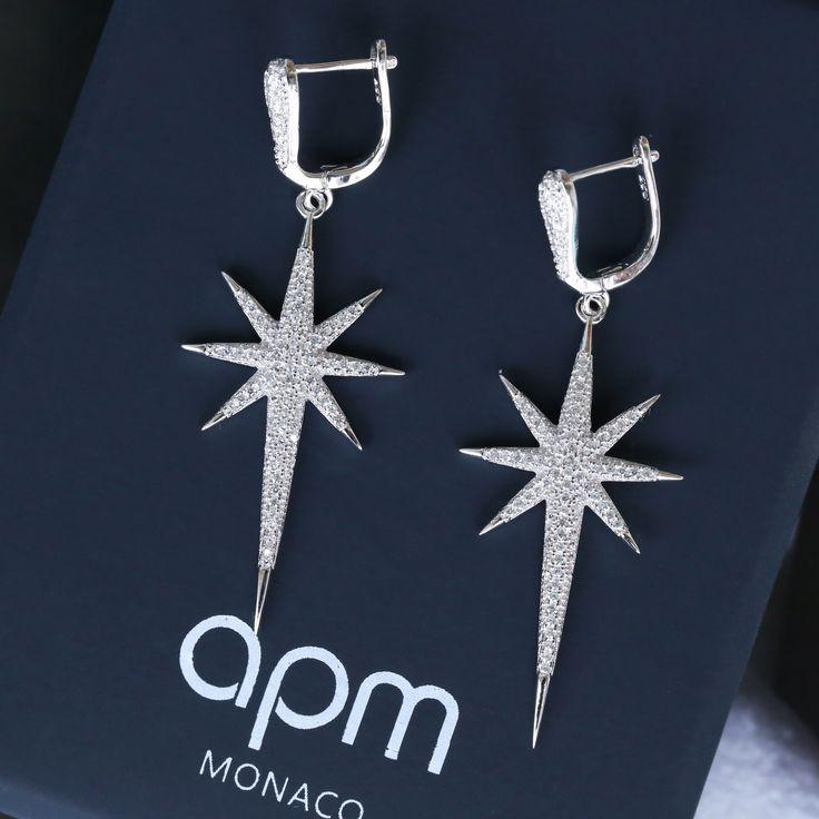 Apm Monaco - Argent 925 boucles d'oreilles étoile, €155.98, Économisez €69, Premier arrivé, premier servi !