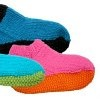 Slippers with Sole | AllFreeKnitting.com  I seem to knit everyone a pair except me. Maybe these for me <3