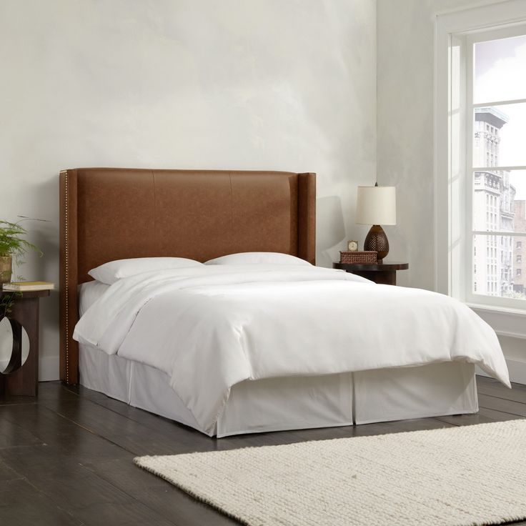 Leather headboards bedroom southwestern with leather bed for Leather headboard designs