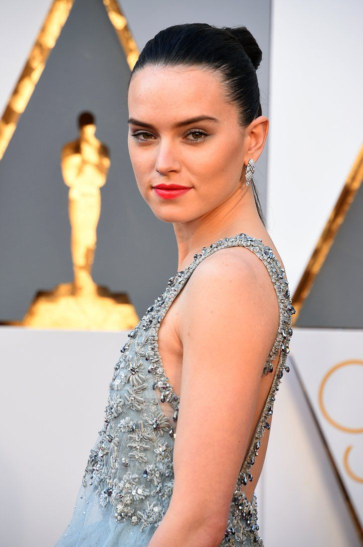 Pin for Later: Daisy Ridley Is Channeling Rey From Star Wars With Her Oscars Hair
