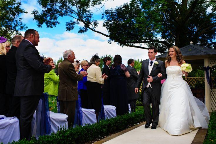 Warwick House Gazebo Wedding Ceremony #outdoorweddings