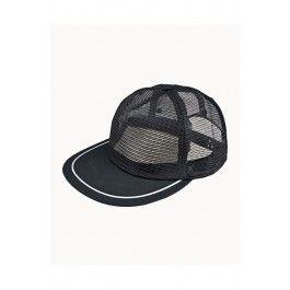 Mesh snapback cap