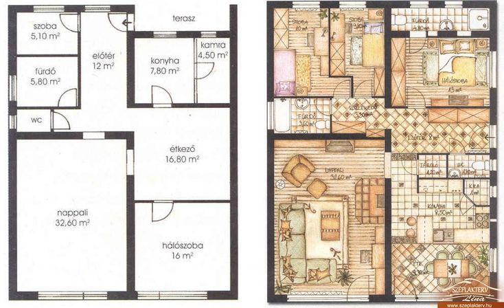 Családi ház nagyítás azonos területen, lakberendezés Budapest