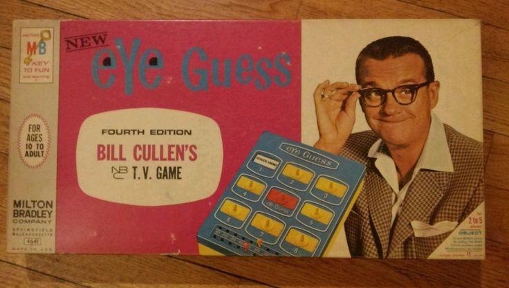 VINTAGE: Bill Cullen's EYE GUESS Board Game 1960s