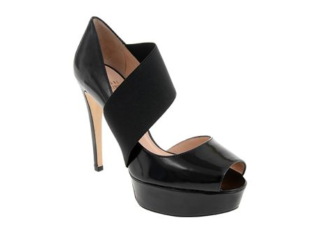 Stuart Weitzman at #Spitz - Stretch Front Heel in Black - Women's #Shoes #SS14