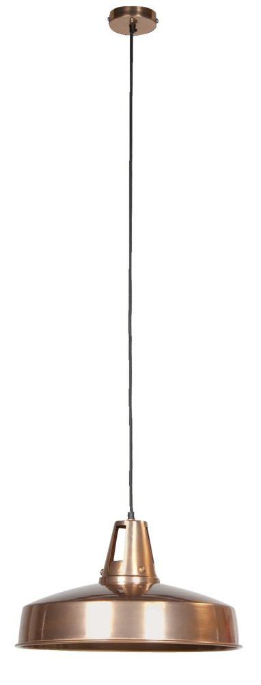 Hanglamp 101: een echte blikvanger deze hanglamp in koperkleur! Ook verkrijgbaar in grijs #101woonideeen