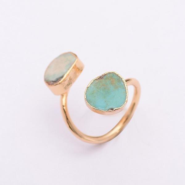 Two Stone Druzy Ring