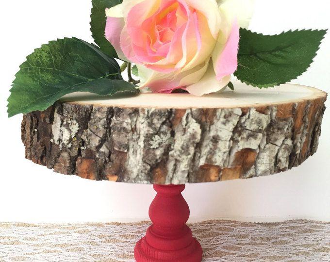 Bois Cake Stand 7-10 », Stand de Cupcake, arbre en bois dalle, partie décor, décor de Table à Dessert, Stand de gâteau de mariage, Stand CakePop, rustique