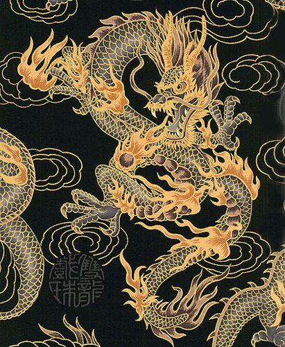 FIRE-BREATHING DRAGONS: Asian Japanese Fabric (Per Yard) by AsianFabrics on Etsy https://www.etsy.com/listing/163403985/fire-breathing-dragons-asian-japanese