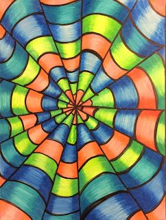 Art Ed Central loves:That Little Art Teacher: Op Art and Colored Pencil Tutorial - Art 1