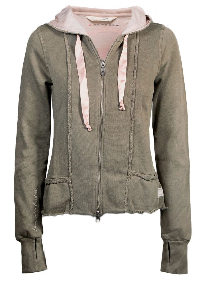 Odd Molly Cardigan army 117M-993 Mind Rinse Cardigan - faded cargo – Acorns