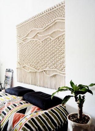 Tête de lit macramé via Ranran design