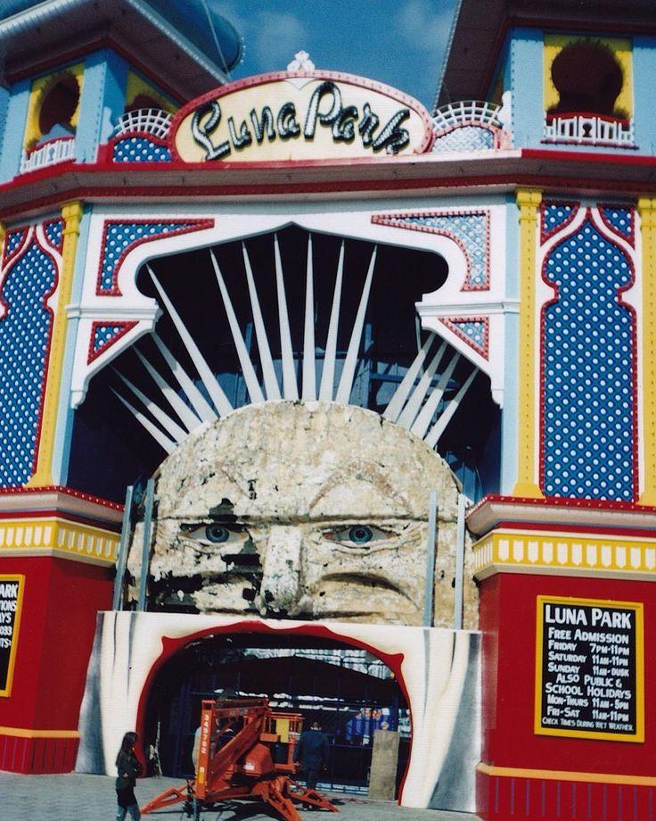 Melbourne's Luna Park gets a facelift, 1999. Photo by Saskia Ericson.