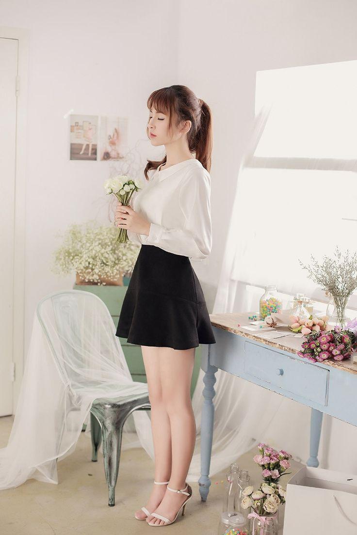 Japanese style - both sides wear long-sleeved chiffon shirt