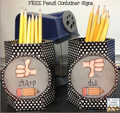 FREE sharp and dull pencil signs!