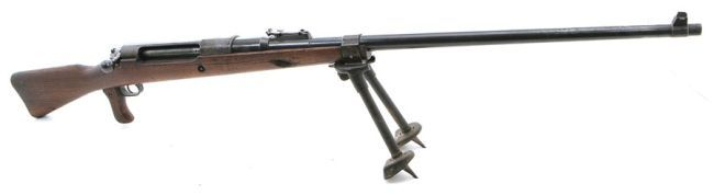 The Mauser 13 mm anti-tank rifle (German: Tankgewehr M1918, usually abbreviated T-Gewehr) was the world's first anti-tank rifle, i.e. the first rifle designed for the sole purpose of destroying armored targets and the only anti-tank rifle to see service in World War 1.  The idea of using heavy calibre and high velocity rifles as anti-tank weapons originated in Germany.