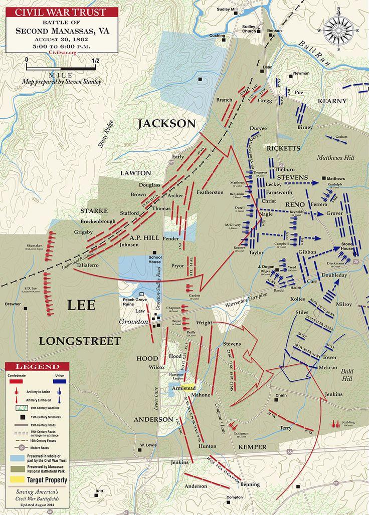 Second Manassas - Chinn Ridge - 5PM to 6PM - August 30, 1862