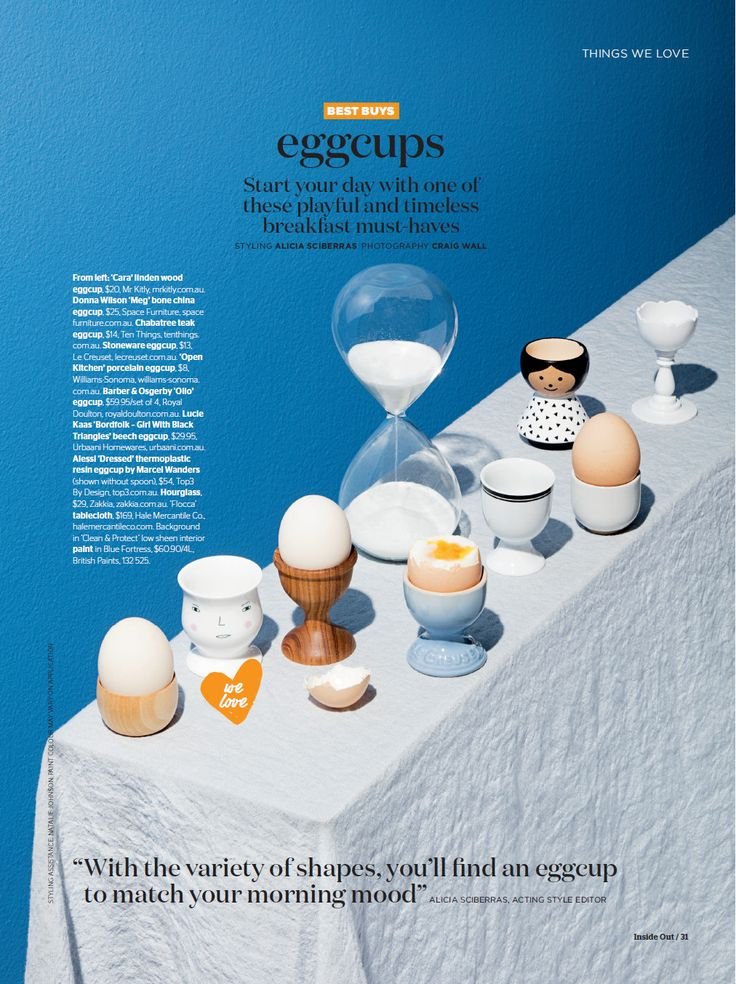 The cutest of our eggcups has been featured in Inside Out Magazine – June 2016