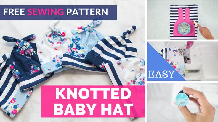 Double Top Knot Baby Hat Gratis Schnittmuster   – Couture et Tricot