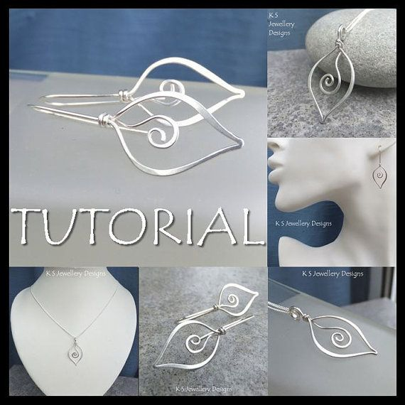 Wire Jewelry Tutorial SWIRL LEAVES Pendant by KSJewelleryDesigns