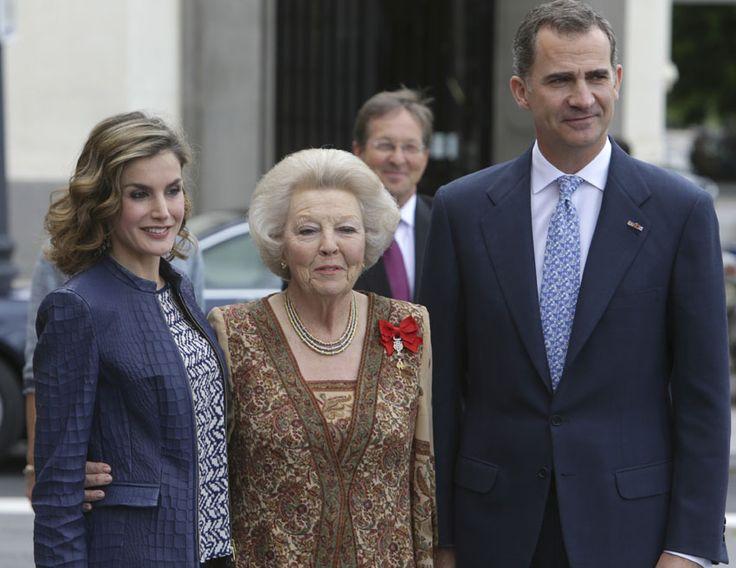 Los Reyes obsequian a Beatriz de Holanda con un almuerzo en el Palacio de la Zarzuela tras su visita de 'El Bosco' en el Prado - Foto 1