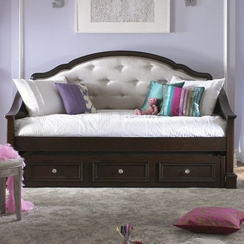 Found it at Wayfair - Girls' Glam Daybed with Trundle